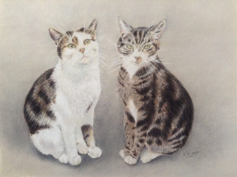 Coco & Harvey Pastel Pet Portrait