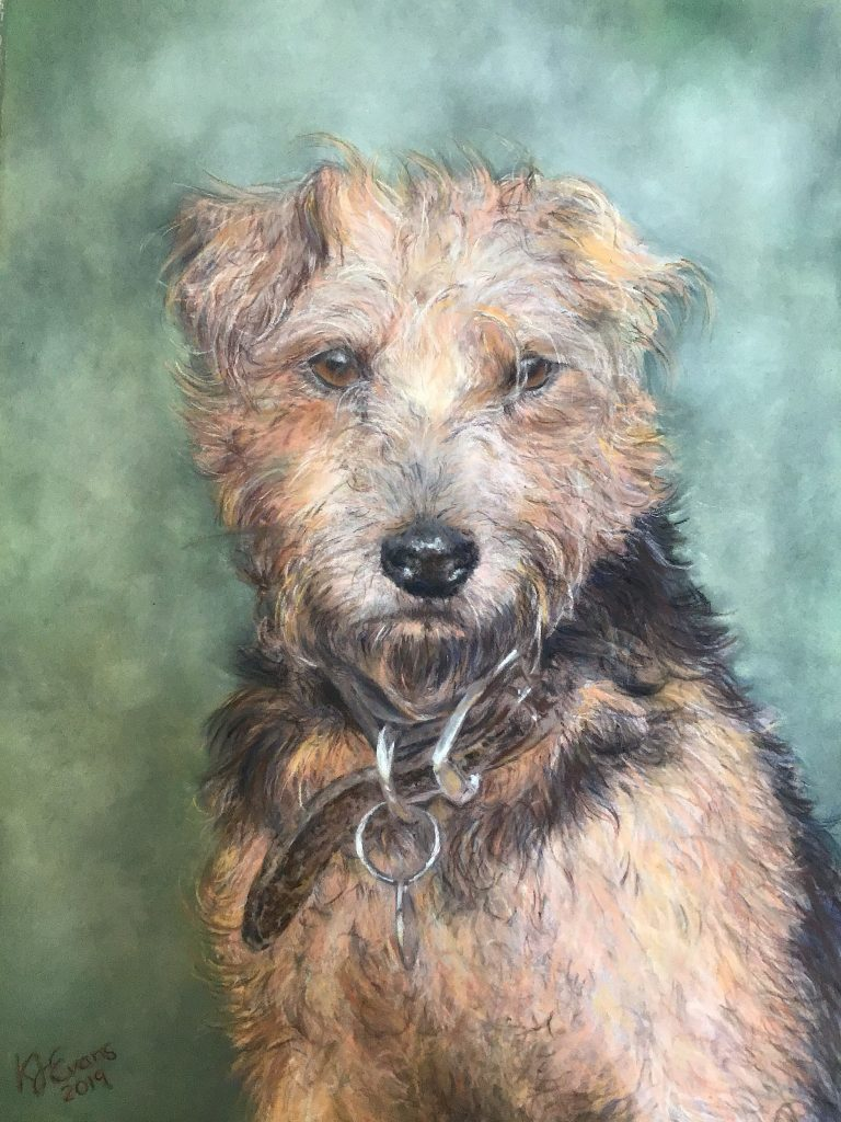 Pastel Dog Pet Portrait Commissions From Photos Merseyside