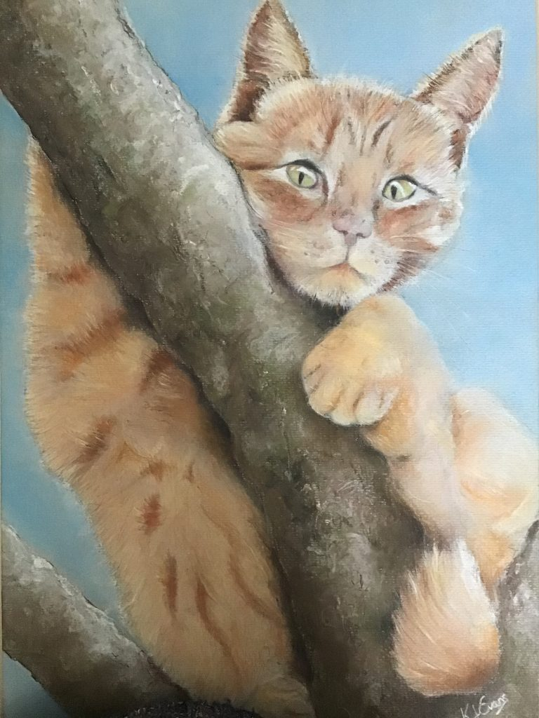 Pastel Cat Portrait