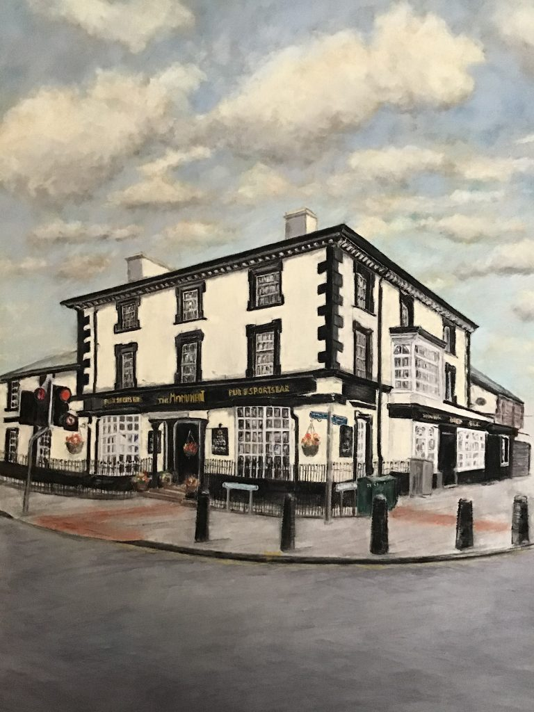 Monument Pub Southport Pastel Painting