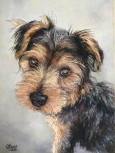 Milo Pastel Dog Portrait