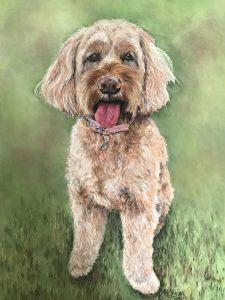 Bella Pastel Dog Portrait